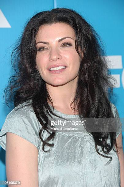 Julianna Margulies during The 2007/2008 Fox Upfronts Arrivals at Wollman Rink Central Park in New York City New York United States