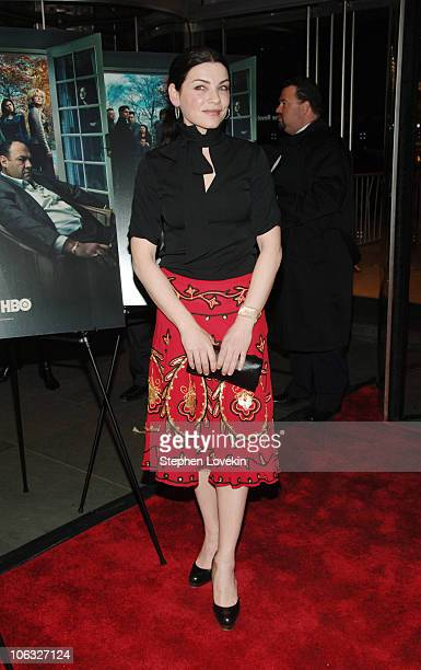 Julianna Margulies during 'The Sopranos' Sixth Season Premiere Inside Arrivals at MoMA in New York City New York United States