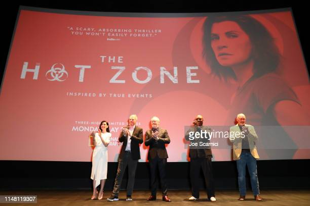 Julianna Margulies, Noah Emmerich, Liam Cunningham, Robert Wisdom, and Nick Searcy speak onstage during the L.A. Premiere of National Geographic's...