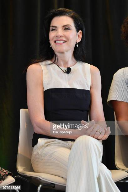 Julianna Margulies speaks onstage during the KickAss Women of AMC Panel at the AMC Summit at Public Hotel on June 20 2018 in New York City