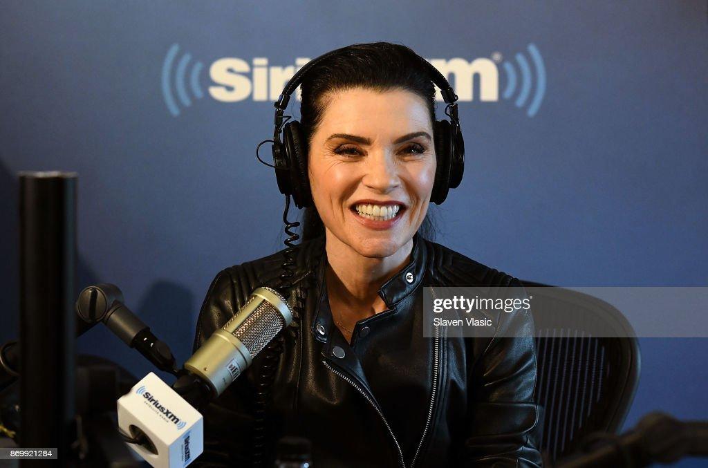 Julianna Margulies visits EW at SiriusXM Studios on November 3, 2017 in New York City.