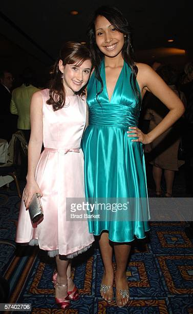 Julianna Rose Mauriella and Kathleen Herles arrive to the Creative Arts Daytime Emmy Awards at the Marriot Marquis Hotel on April 22 2006 in New York...