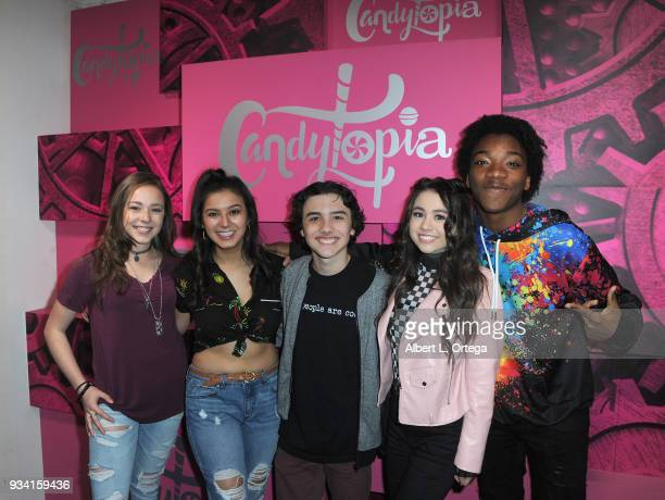 Julianne Collins Amber Romero Hunter Payton Ciara A Wilson and Jaheem Toombs at Talent Day At Candytopia held at Santa Monica Place on March 18 2018...
