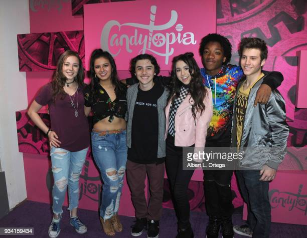 Julianne Collins Amber Romero Hunter Payton Ciara A Wilson Jaheem Toombs and Lofton Shaw at Talent Day At Candytopia held at Santa Monica Place on...