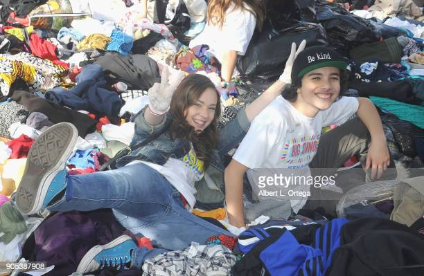Julianne Collins and Hunter Payton participate in the 6th Annual Martin Luther King Jr Day Clothing Collection And Community Breakfast held on...