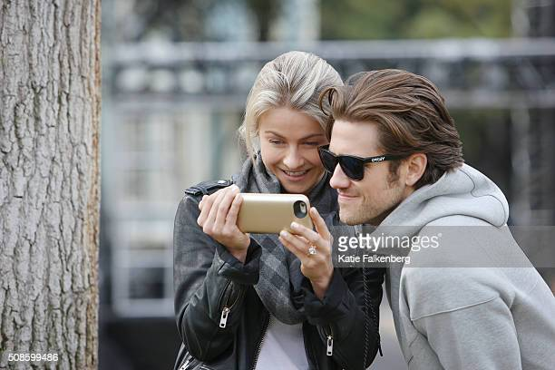 Julianne Hough and Aaron Tveit are photographed for Los Angeles Times on January 14 2016 in Los Angeles California PUBLISHED IMAGE CREDIT MUST READ...