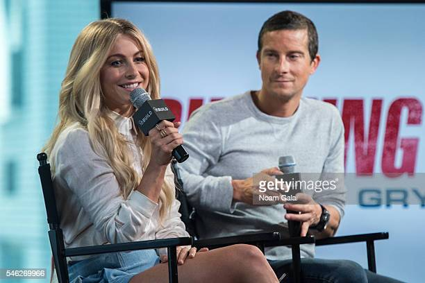Julianne Hough and Bear Grylls visit AOL Build to discuss 'Running Wild With Bear Grylls' at AOL Studios In New York on July 11 2016 in New York City