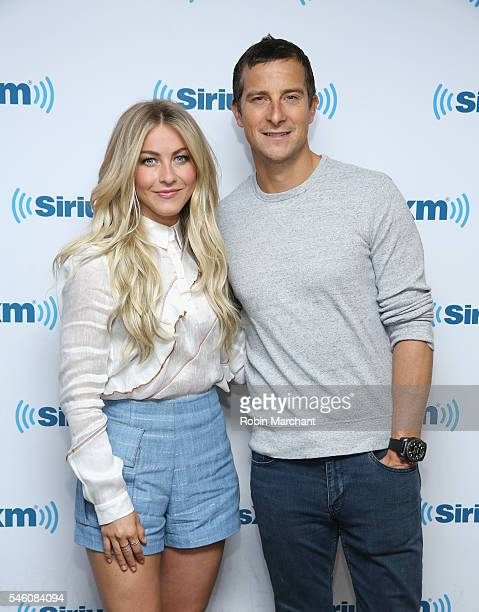 Julianne Hough and Bear Grylls visit at SiriusXM Studio on July 11 2016 in New York City