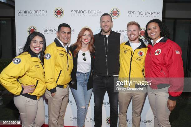 Julianne Hough and Brooks Laich and City Year AmeriCorps members attend City Year Los Angeles' Spring Break Destination Education at Sony Studios on...