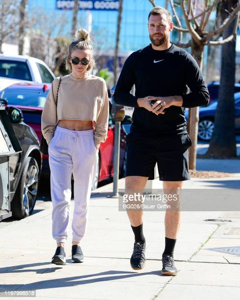 Julianne Hough and Brooks Laich are seen on February 01, 2020 in Los Angeles, California.