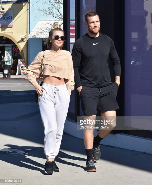 Julianne Hough and Brooks Laich are seen on February 01 2020 in Los Angeles California