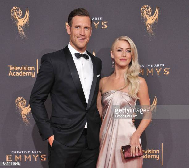 Julianne Hough and Brooks Laich arrive at the 2017 Creative Arts Emmy Awards Day 1 at Microsoft Theater on September 9 2017 in Los Angeles California