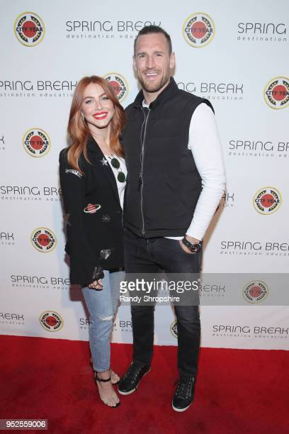 Julianne Hough and Brooks Laich attend City Year Los Angeles' Spring Break: Destination Education at Sony Studios on April 28, 2018 in Los Angeles,...