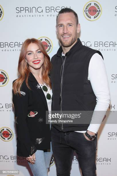Julianne Hough and Brooks Laich attend City Year Los Angeles' Spring Break Destination Education at Sony Studios on April 28 2018 in Los Angeles...