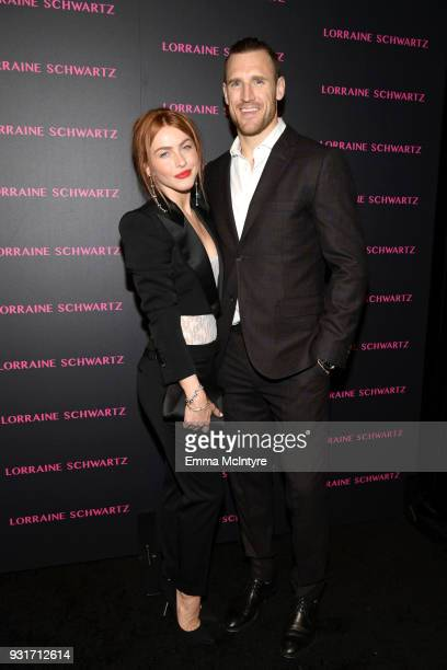 Julianne Hough and Brooks Laich attend Lorraine Schwartz launches The Eye Bangle a new addition to her signature Against Evil Eye Collection at...
