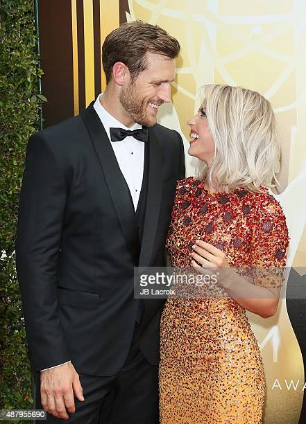 Julianne Hough and Brooks Laich attend the 2015 Creative Arts Emmy Awards at Microsoft Theater on September 12 2015 in Los Angeles California