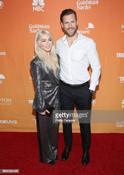 Julianne Hough and Brooks Laich attend The Trevor Project's 2017 TrevorLIVE LA Gala at The Beverly Hilton Hotel on December 3 2017 in Beverly Hills...