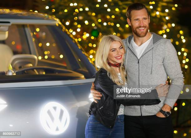 Julianne Hough and Brooks Laich attend the Volkswagen Holiday DriveIn Event at Releigh Studios in Los Angeles California on December 16 2017