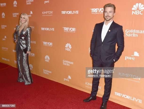 Julianne Hough and Derek Hough attend The Trevor Project's 2017 TrevorLIVE LA on December 3 2017 in Beverly Hills California