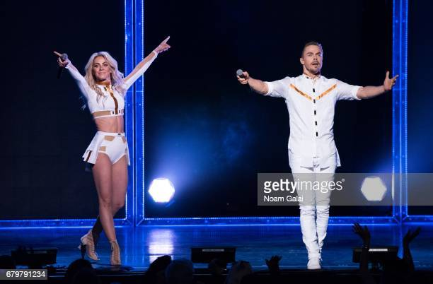Julianne Hough and Derek Hough perform at the 'Julianne and Derek Hough MOVE Beyond Live On Tour' at Radio City Music Hall on May 6 2017 in New York...