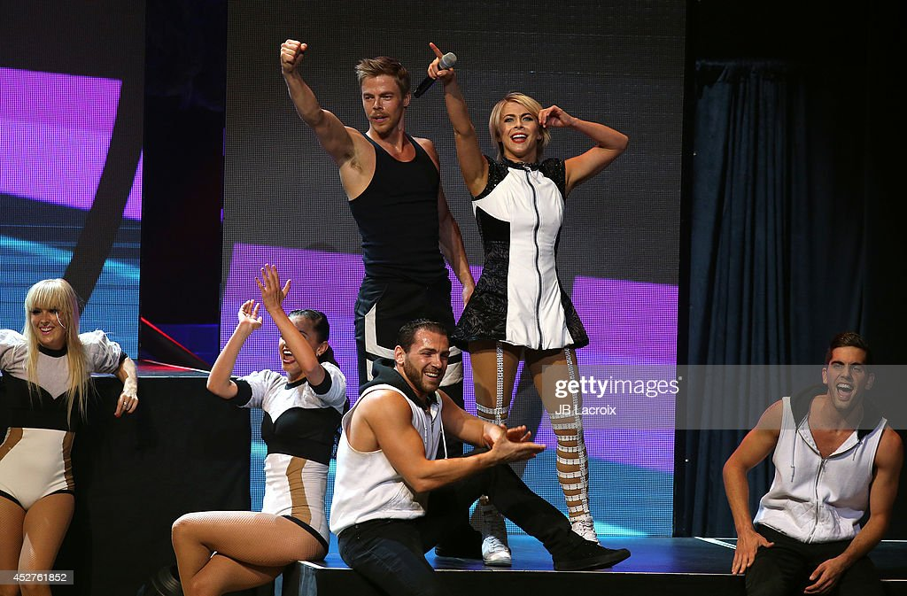 Julianne Hough and Derek Hough perform during 'Move Live on Tour' concert on July 26, 2014 at the Orpheum Theatre in Los Angeles, California.