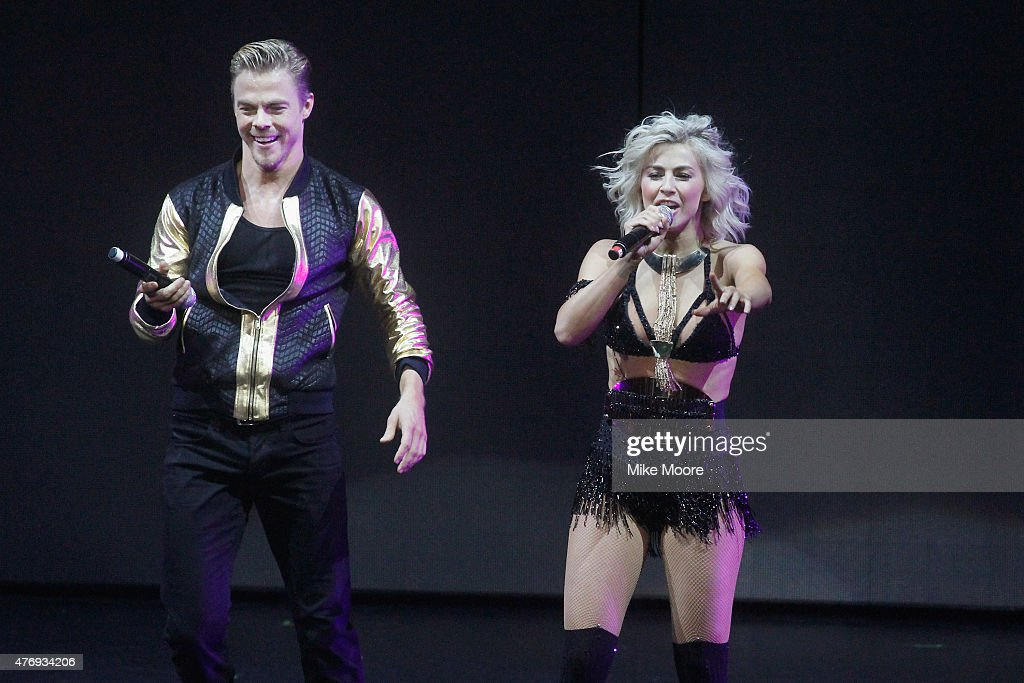 Julianne Hough and Derek Hough perform on their 2015 Move Live Tour at Comerica Theatre on June 12, 2015 in Phoenix, Arizona.