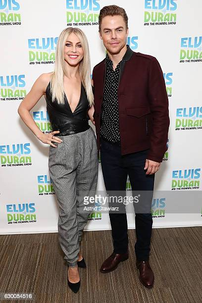 Julianne Hough and Derek Hough visit The Elvis Duran Z100 Morning Show at Z100 Studio on December 14 2016 in New York City