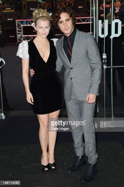 Julianne Hough and Diego Boneta attend the European premiere of Rock Of Ages at The Odeon Leicester Square on June 10 2012 in London England