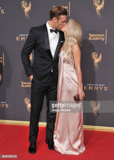 Julianne Hough and husband Brooks Laich arrive at the 2017 Creative Arts Emmy Awards Day 1 at Microsoft Theater on September 9 2017 in Los Angeles...