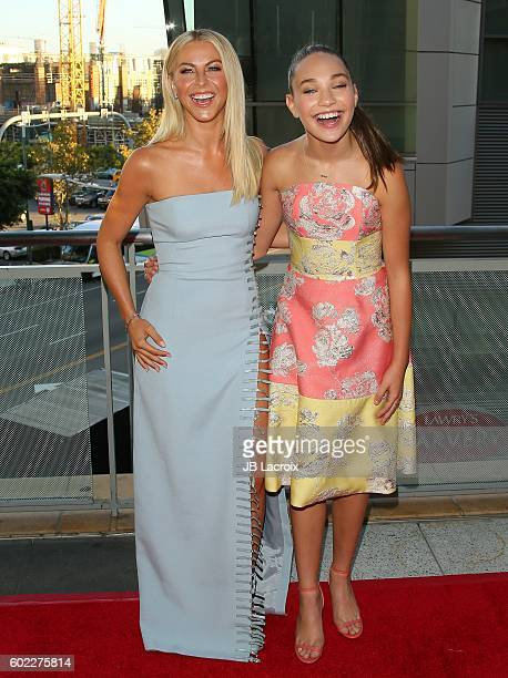 Julianne Hough and Maddie Ziegler attend the 6th Annual Celebration of Dance Gala presented by The Dizzy Feet Foundation on September 10 2016 in Los...