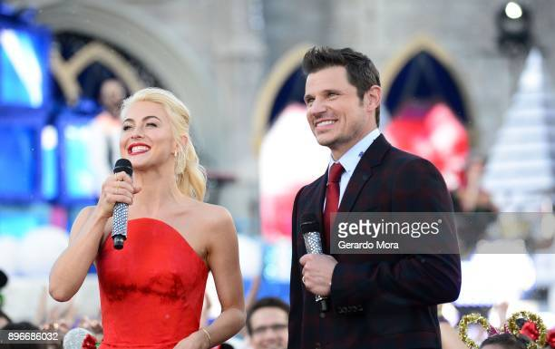 Julianne Hough and Nick Lachey attend the taping of 'Disney Parks Magical Christmas Celebration' at Walt Disney World on November 5 2017 in Orlando...