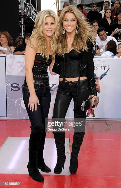 Julianne Hough and sister Marabeth Hough arrive at This Is It Premiere at the Nokia Theater LA Live on October 27 2009 in Los Angeles California