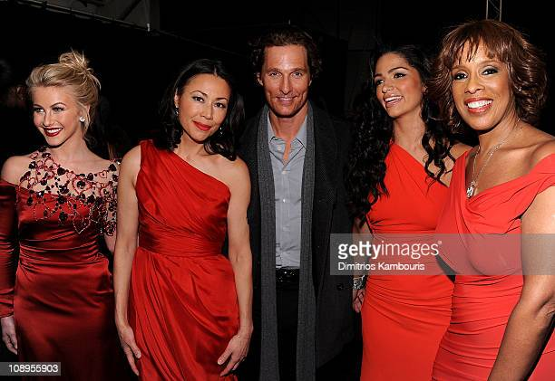 Julianne Hough Ann Curry Matthew McConaughey Camila Alves and Gayle King attend the Heart Truth's Red Dress Collection 2011 during MecerdesBenz...