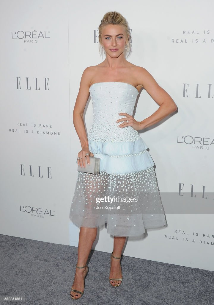 Julianne Hough arrives at ELLE's 24th Annual Women in Hollywood Celebration at Four Seasons Hotel Los Angeles at Beverly Hills on October 16, 2017 in Los Angeles, California.