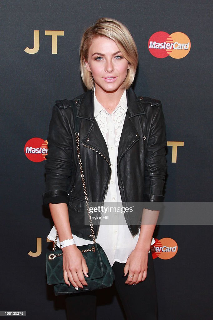 Julianne Hough arrives at MasterCard Priceless Premieres presents Justin Timberlake at Roseland Ballroom on May 5, 2013 in New York City.