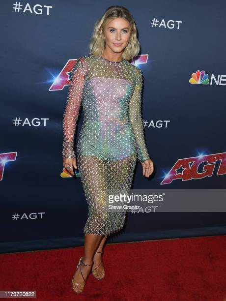 Julianne Hough arrives at the America's Got Talent Season 14 Live Show Red Carpet at Dolby Theatre on September 10 2019 in Hollywood California