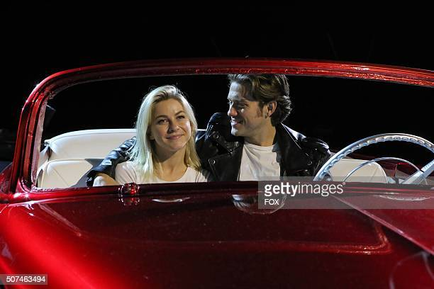 LIVE Julianne Hough as 'Sandy' and Aaron Tveit as 'Danny Zuko rehearse for GREASE LIVE airing LIVE Sunday Jan 31 on FOX