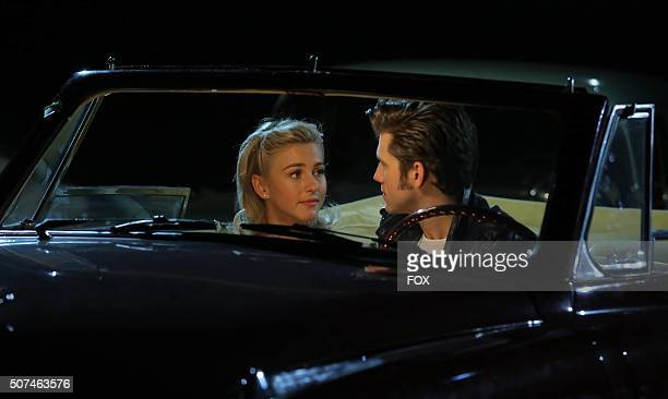 LIVE Julianne Hough as 'Sandy' and Aaron Tveit as 'Danny Zukorehearse for GREASE LIVE a iring LIVE Sunday Jan 31 on FOX
