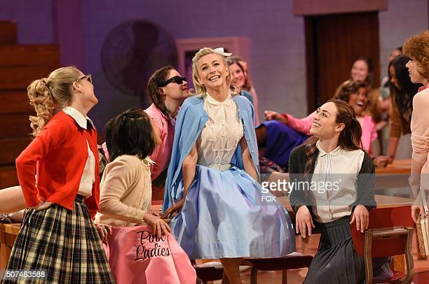 LIVE Julianne Hough as 'Sandy' and cast rehearse for GREASE LIVE airing LIVE Sunday Jan 31 on FOX