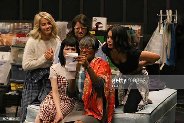 LIVE Julianne Hough as 'Sandy' Carly Rae Jepsen as 'Frenchy' Kether Donohue as 'Jan' Keke Palmer 'Marty' and Vanessa Hudgens as 'Rizzo' rehearse for...