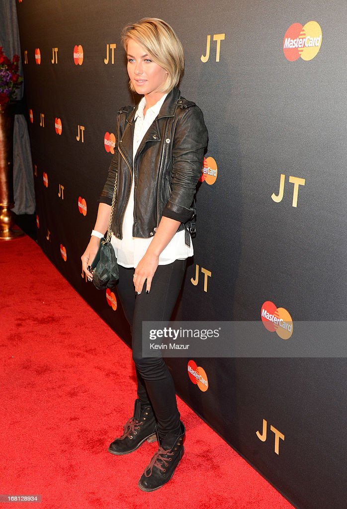 Julianne Hough attends MasterCard Priceless Premieres Presents Justin Timberlake at Roseland Ballroom on May 5, 2013 in New York City.