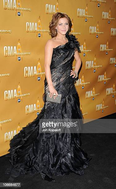 Julianne Hough attends the 44th Annual CMA Awards at the Bridgestone Arena on November 10 2010 in Nashville Tennessee