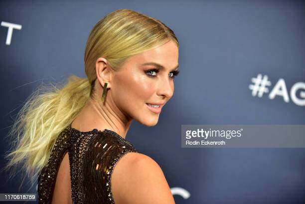 Julianne Hough attends the America's Got Talent Season 14 Live Show Red Carpet at Dolby Theatre on August 27 2019 in Hollywood California