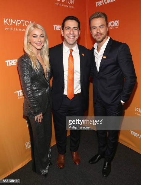 Julianne Hough CEO and Executive Director at The Trevor Project Amit Paley and Derek Hough attend The Trevor Project's 2017 TrevorLIVE LA Gala at The...