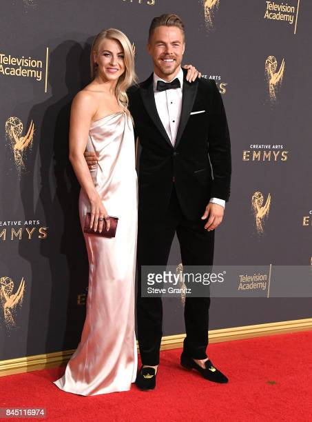 Julianne Hough Derek Hough arrives at the 2017 Creative Arts Emmy Awards Day 1 at Microsoft Theater on September 9 2017 in Los Angeles California