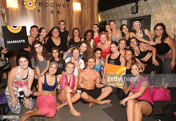 Julianne Hough Derek Hough Host Move Interactive x CorePower Yoga Class In Hollywood on July 28 2016 in Los Angeles California