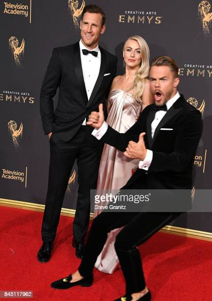 Julianne Hough Derek HoughBrooks Laich arrives at the 2017 Creative Arts Emmy Awards Day 1 at Microsoft Theater on September 9 2017 in Los Angeles...