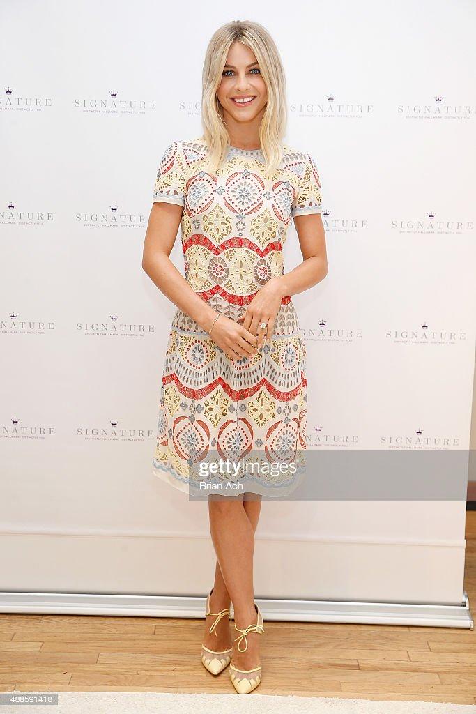 Julianne Hough Kicks Off Hallmark Signature's Pop-Up Shop At New York's Fashion Week : News Photo