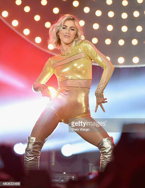 Julianne Hough perform during the Lip Sync Battle LIVE At SummerStage In New York on July 13 2015 in New York City