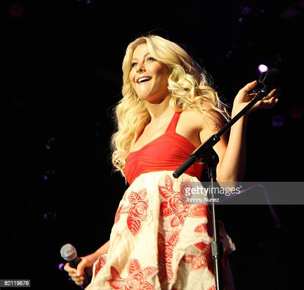 Julianne Hough performs at the debut of remade Wrigley's Gum jingles at the Nokia Theatre on July 29, 2008 in New York City.
